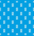 bookcase pattern seamless blue vector image
