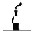 businessman in trash can vector image