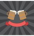 clink mugs logo vector image