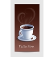 Coffee Time Banner with Coffee Cup vector image