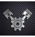 Flat metallic logo automotive engine vector image