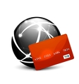 Global payment concept icon vector image