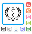 medical honor laurel wreath framed icon vector image