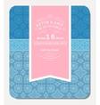 Retro Elegant Invitation Design vector image