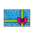 scribble colofull gift cartoon vector image