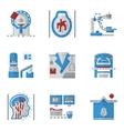 Simple flat color icons for MRI vector image