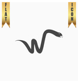 Snake flat icon vector image