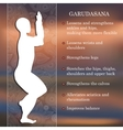 Yoga pose infographics benefits of practice vector image