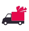 truck transportation delivery shipping icon vector image