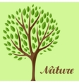 Background with abstract stylized tree Natural vector image vector image