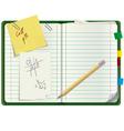 Personal paper organizer vector image