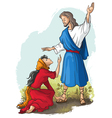 jesus to mary of magdalene vector image vector image