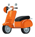retro moped icon in flat design vector image