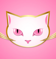 White cat head vector image