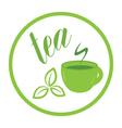 tea time label vector image