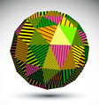 Vivid geometric spherical structure with parallel vector image vector image