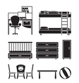 children furniture vector image