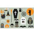 halloween flat icons vector image