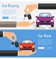 Rent amd Buying Car Banner vector image