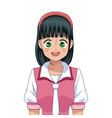 anime girl japanese character vector image