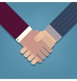 Businessman handshake icon vector image