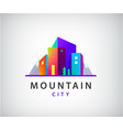 city with mountains logo vector image