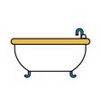 color sections silhouette of bathtub icon vector image