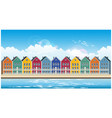 Colorful townhouses vector image
