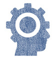 cyborg gear fabric textured icon vector image