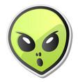 green alien face emoji sticker vector image