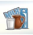 logo of milk vector image