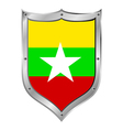 Myanmar flag button vector image
