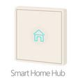 Smart home hub icon cartoon style vector image