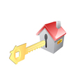 key for house vector image
