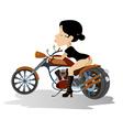 Biker babe vector image