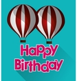 happy birthday airballoons pink letters with vector image