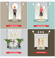 set of fashion posters in flat style vector image vector image