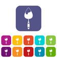 Construction trowel icons set vector image