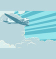 air transport is flying in the sky plane retro vector image