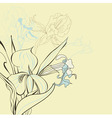 floral background with iris flowers vector image vector image