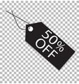 50 percent tag on transparent 50 percent tag vector image