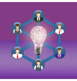 Business idea and teamwork concept vector image