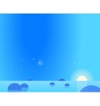 Wallpaper Landscape of Seascape at Dawn or Dusk vector image