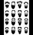bearded hipster guy portrait vector image