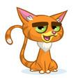 cartoon of cartoon ginger cat vector image