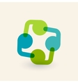 Cooperation and partnership icon Logo design vector image