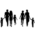 Families silhouettes vector image