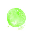 hand drawn watercolor green vector image