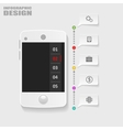 infographics mobile phone data paper style vector image
