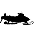 Snowmobile silhouette vector image